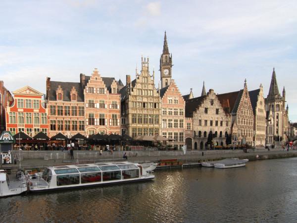 Graslei, Ghent, Belgium