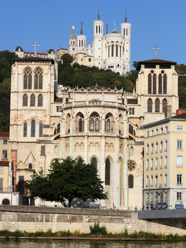 Cathedral and Fourviere Basilica, Lyon, France