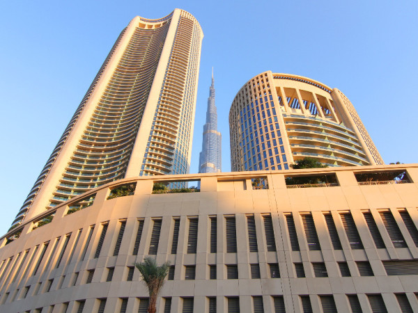 Burj Vista and Burj Khalifa, Downtown Dubai, Dubai