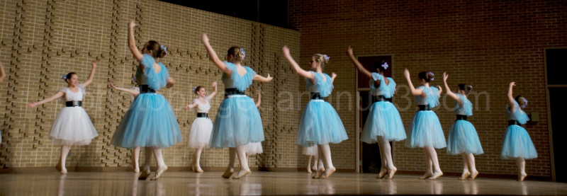 young ballerinas dancing