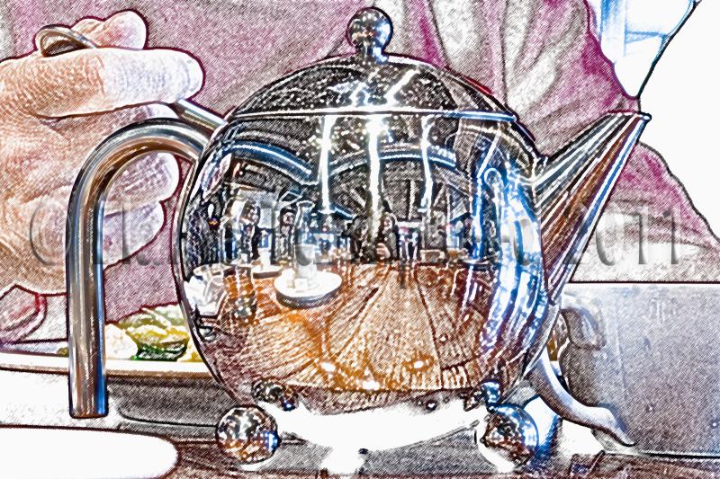 photoshop filter teapot at breakfast