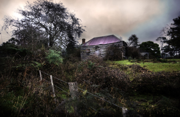 A ruined cottage in Tasmania's north.