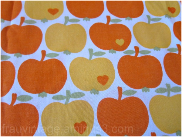 Graziela Vintage Orange and Yellow Apple fabric