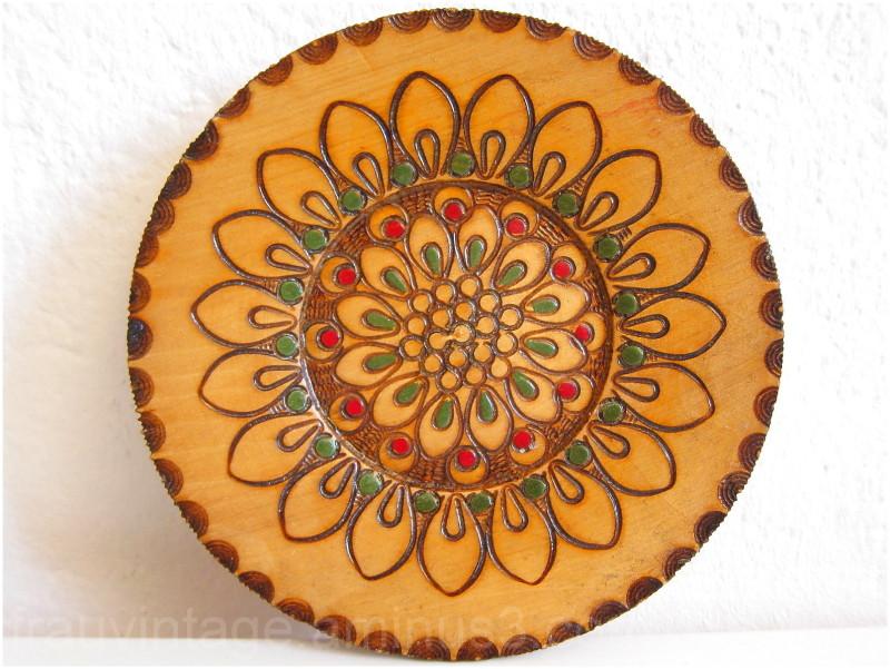 Eastern European Polish Decorative Wooden Plate  sc 1 st  Frau Vintage - Aminus3 & Eastern European Polish Decorative Wooden Plate - Art u0026 Design ...