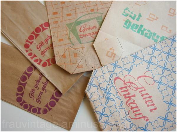 Guten Einkauf DDR hand printed wrapping paper