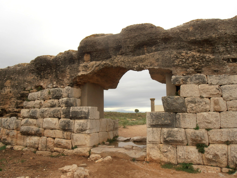 Entrance to the Roman city of Empuries (Spain)