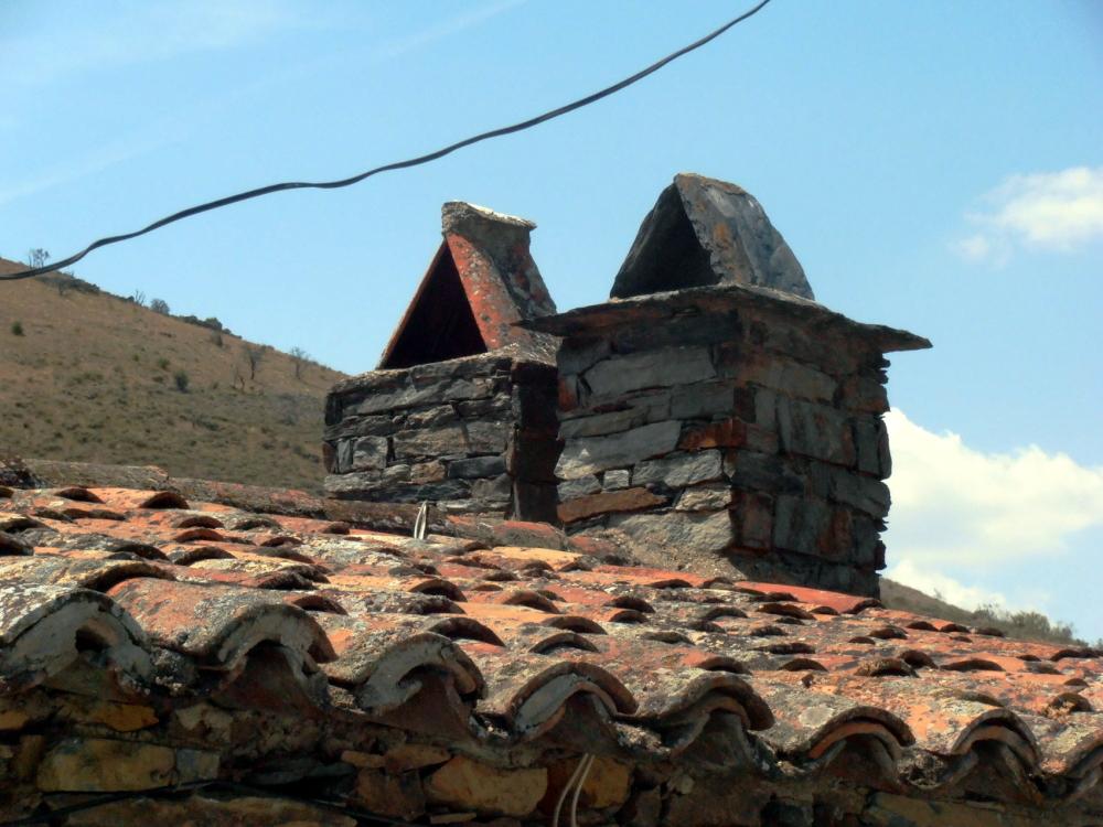 Small chimneys.