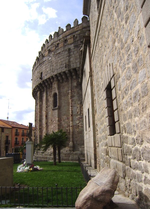 In the back façade of the Cathedral of Avila (Spai