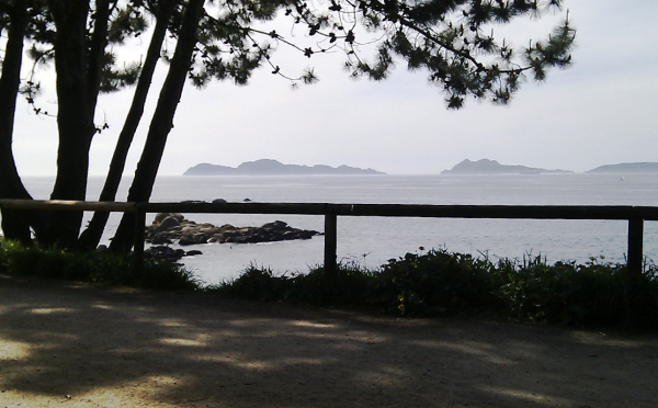Cies Islands (Vigo Pontevedra-Spain) in background