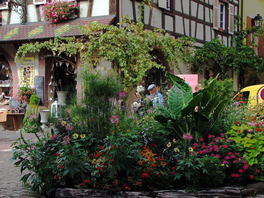 In a village in Alsace-France
