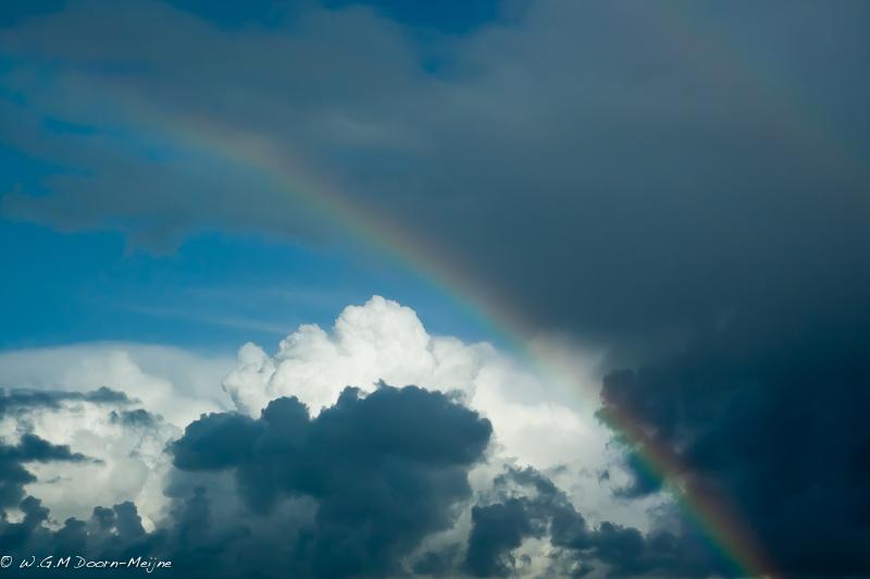 regenboog rainbow clouds wolken