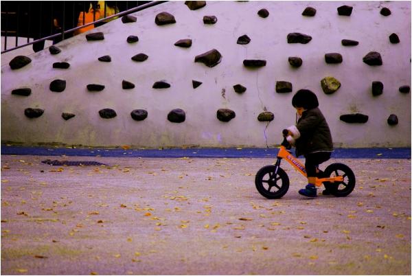 Biking around the Playground