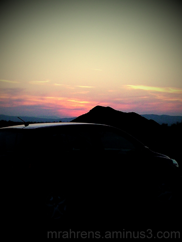 Sunset over my Car