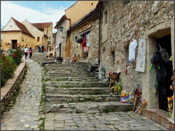 Inside the fortress Rasnov-Brasov-Romania