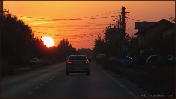 High road sunset