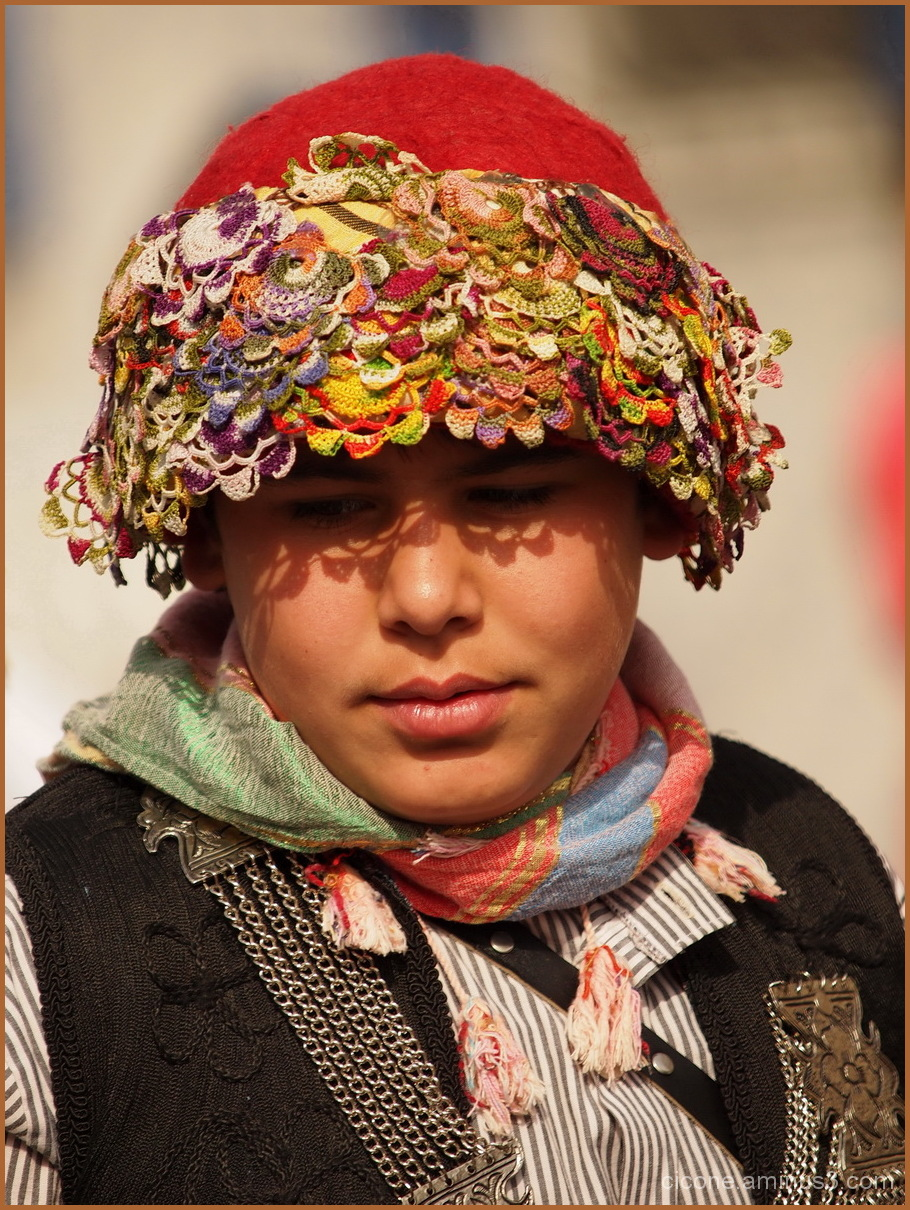 Turkish boy in traditional costume