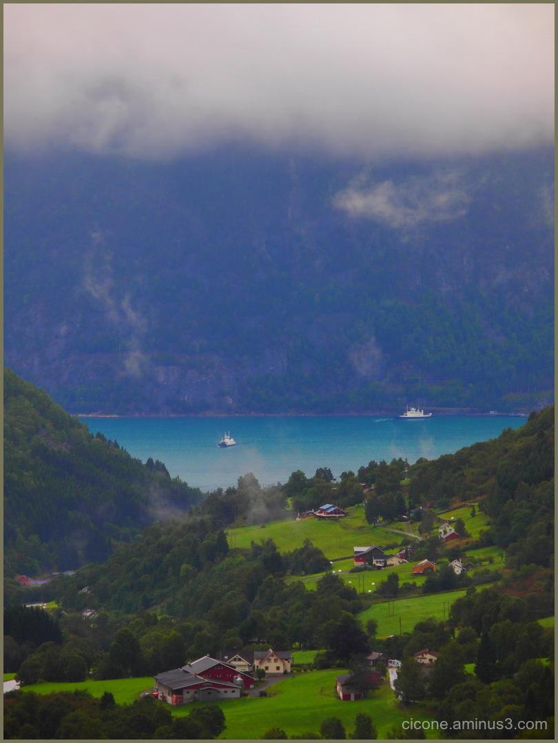 View to Tafjord Eidsdal Norway