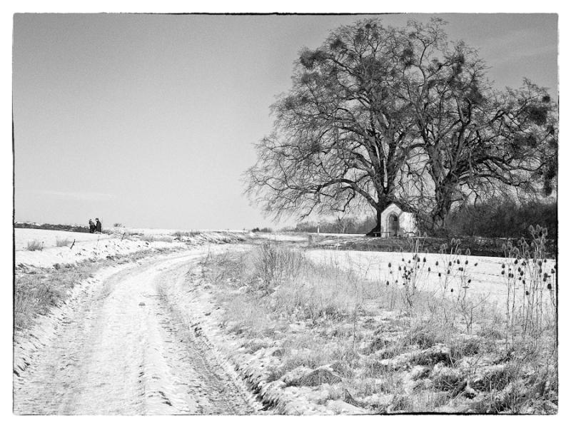 chapel, snow, winter