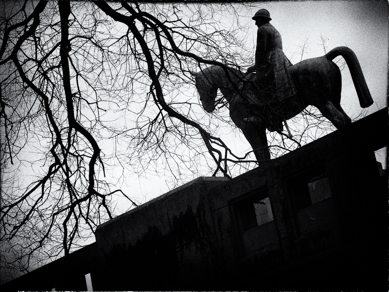 horse, statue, king