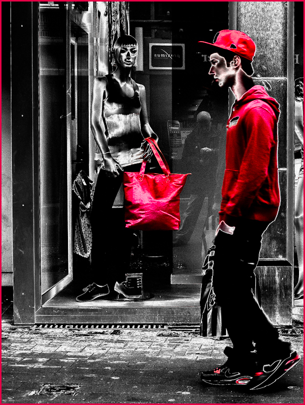street photography, red