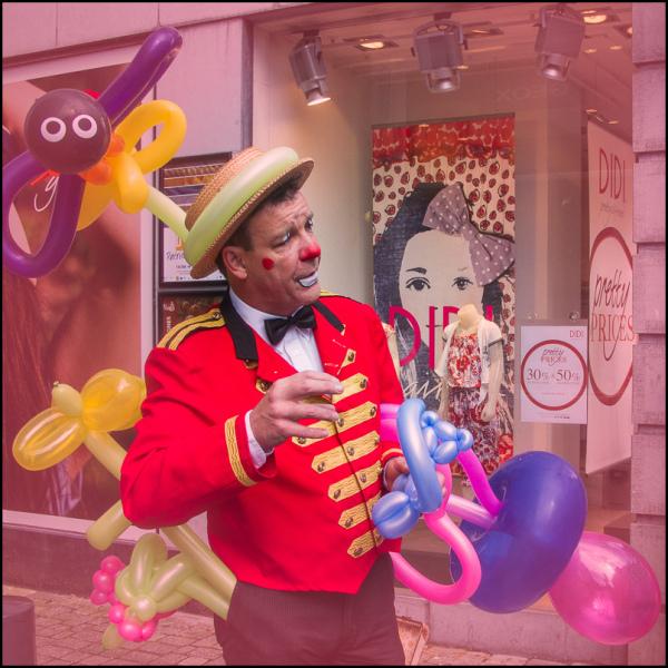 street photography, clown