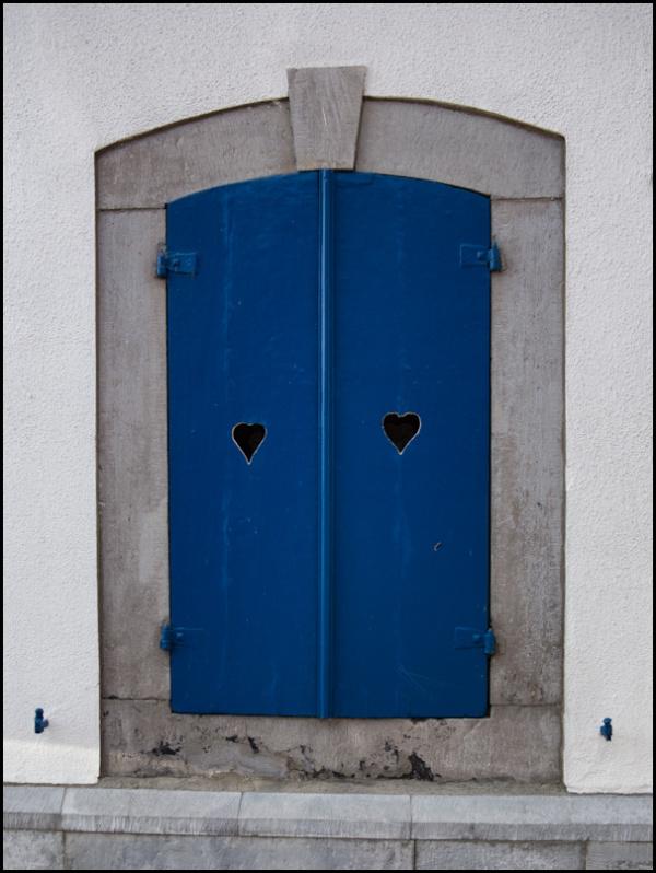 window, blue, heart