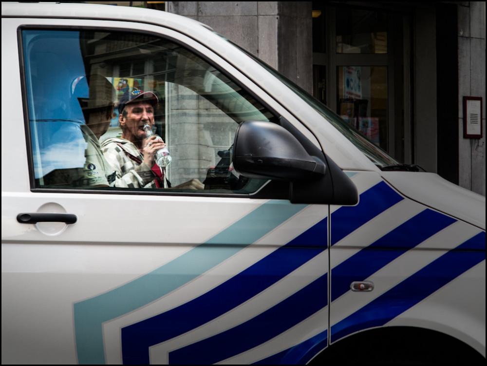 beggar, street photography, police