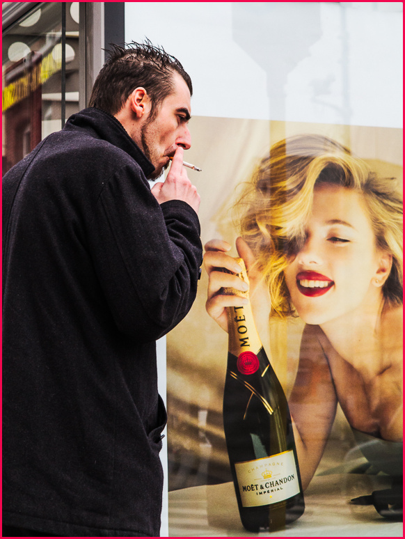 street photography, champagne