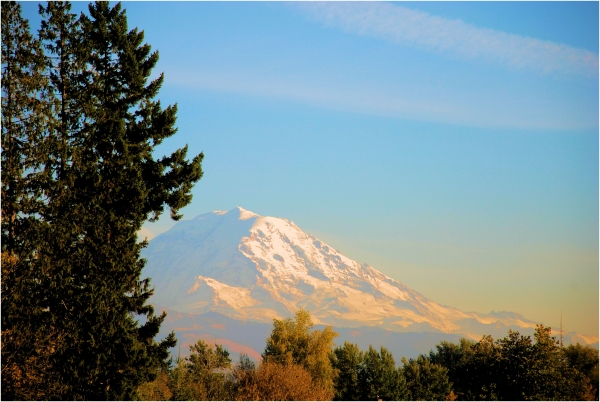Mt Rainier is beautiful at any time of the day.