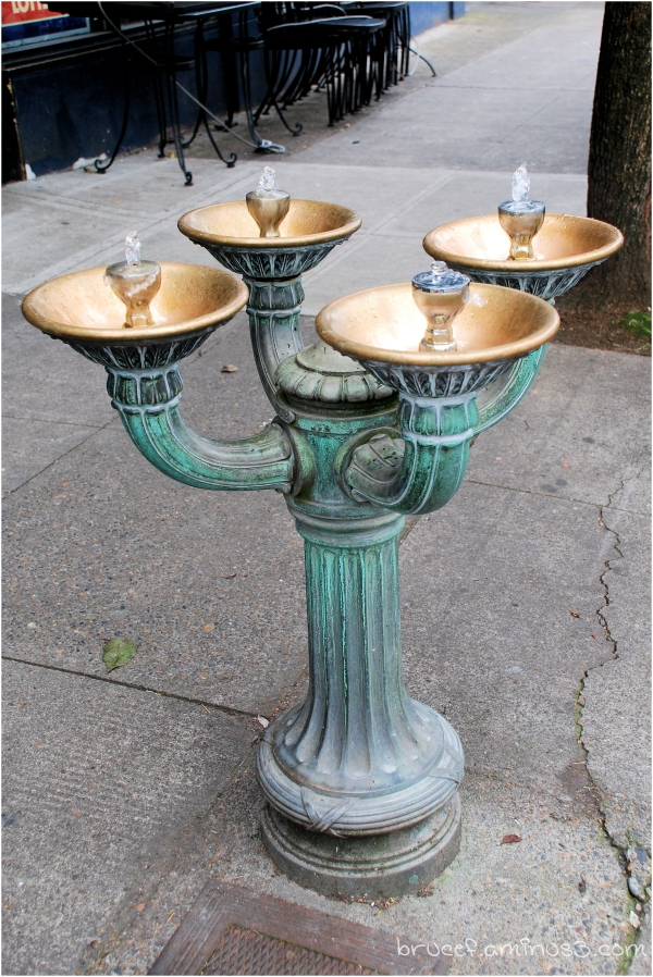 Portland Bronze Drinking Fountain