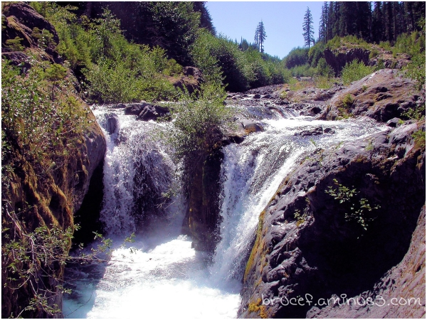 Mt St Helens waterfall