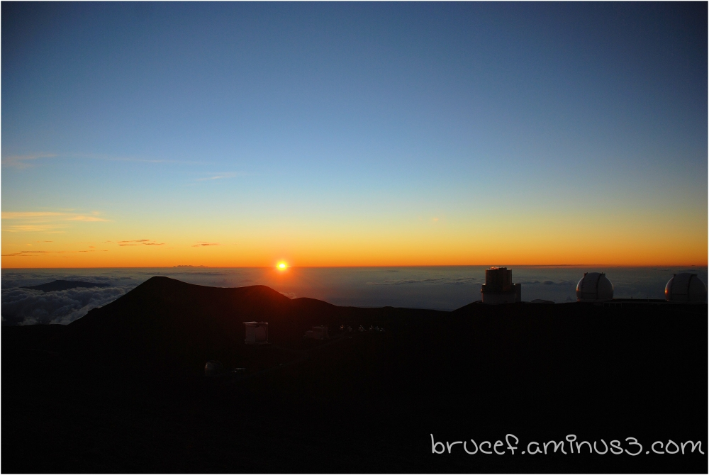 Sunset at Mt Mauna Kea