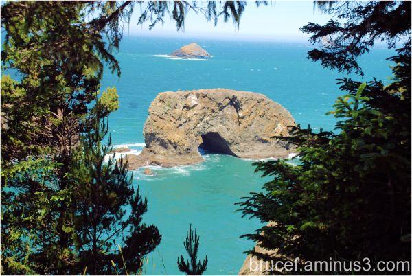 Natural tunnel Oregon Coast