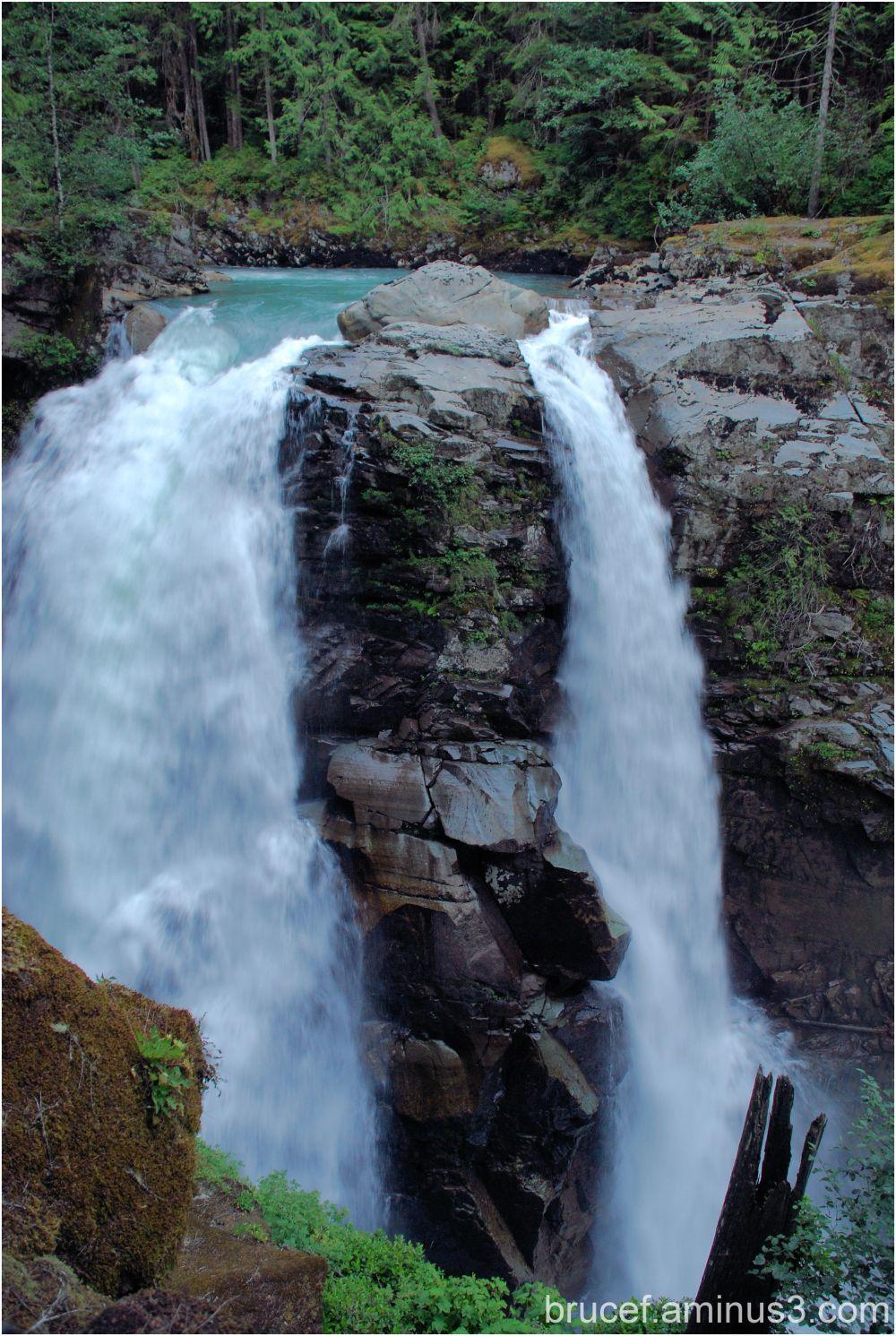 Nooksack Falls on Mt Baker