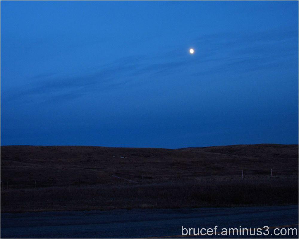 Moon over the prairie