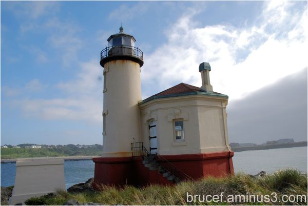 Coquille River Lighthouse Oregon Coast