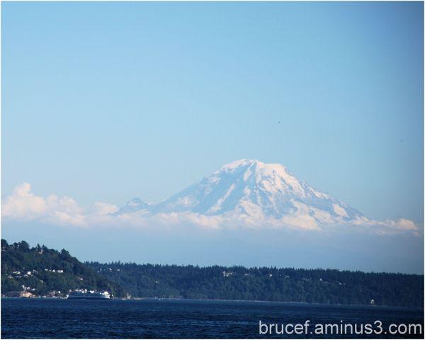Mt Rainier - floats above Seattle  II