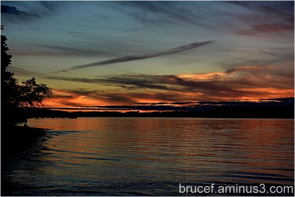 Sunset at Dash Point State Park Washington