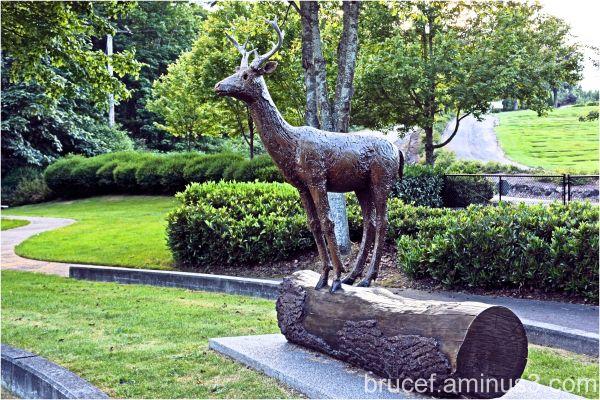 Statue of a deer