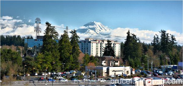 The Mt Looms over Federal Way