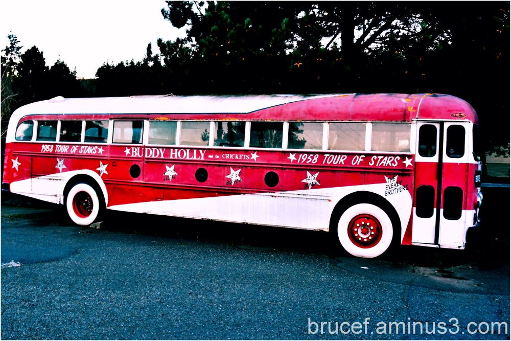1958 Tour Of Stars Bus with Buddy Holly