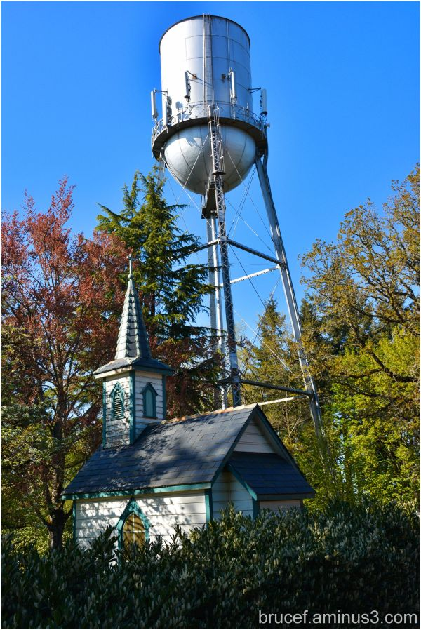 Water tower and small chapel