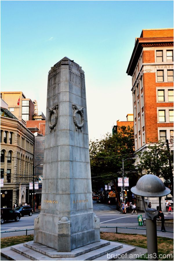 WWI Memorial in Victory Square - Vancouver BC
