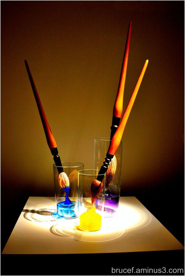 Paint Brush  in Glass -   Glass Museum Tacoma WA