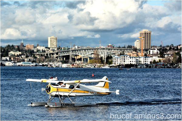 Flying in Seattle