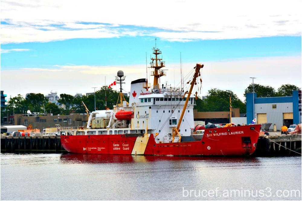 Victoria BC Harbor Ship