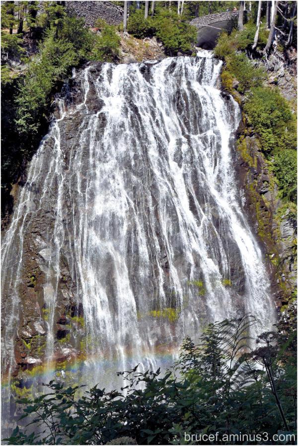 Narda Falls and Rainbow  Mt Rainier