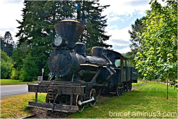 Old time locomotive
