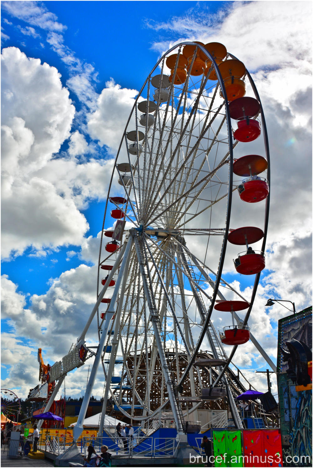 Puyallup Fair on a beautiful day