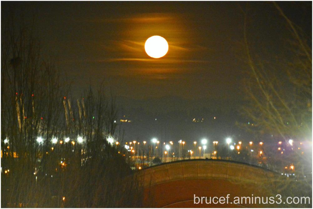 Moon over Tacoma